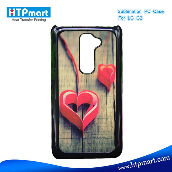 2D pc blank sublimation phone case bumper case for lg g2