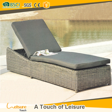 Hot sale rattan pool lounger furniture used resort outdoor furniture sun lounge set for sale