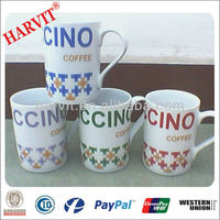 Fine Bone China Modern Cino Scrabble Letters Coffee Cup Latte Mugs
