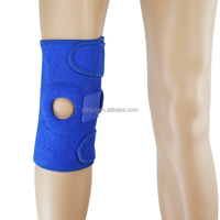 Custom volleyball sports protective China factory made spring fixed open patella adjustable neoprene knee support