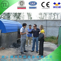 carbon black recycling equipment refinery plant from used tire pyrolysis machine