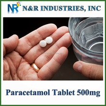 Paracetamol tablet Paracetamol 500mg GMP Supplier 500,000,000tablets/year