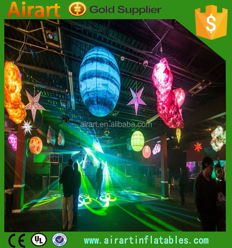 Fantasy Advertising/Events/party/stage/club hanging decoration inflatable ball/inflatable planets balloon