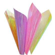 pet colourful iridescent film for holiday decoration and gift packing