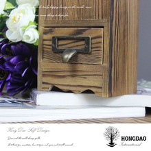 HONGDAO burned color wooden pen holder,handmade pen holder
