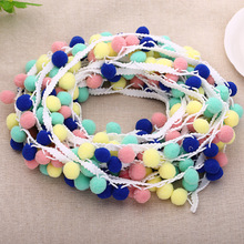 cheap summer pom pom trim cotton lace for garments