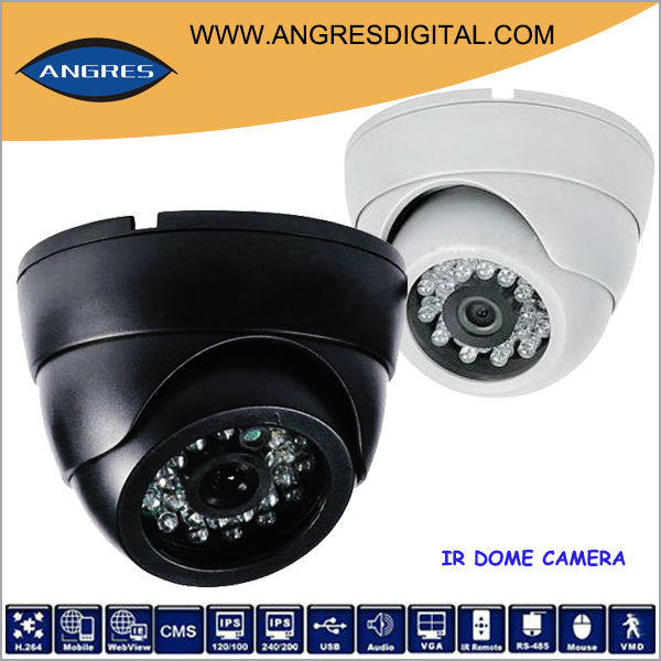 "24 LEDs 20m IR View 3.6mm lens 1/3"" sony CCD 600TVL Effio surveillance camera"