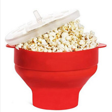 2017 New design collapsibel silicone microwave popcorn popper