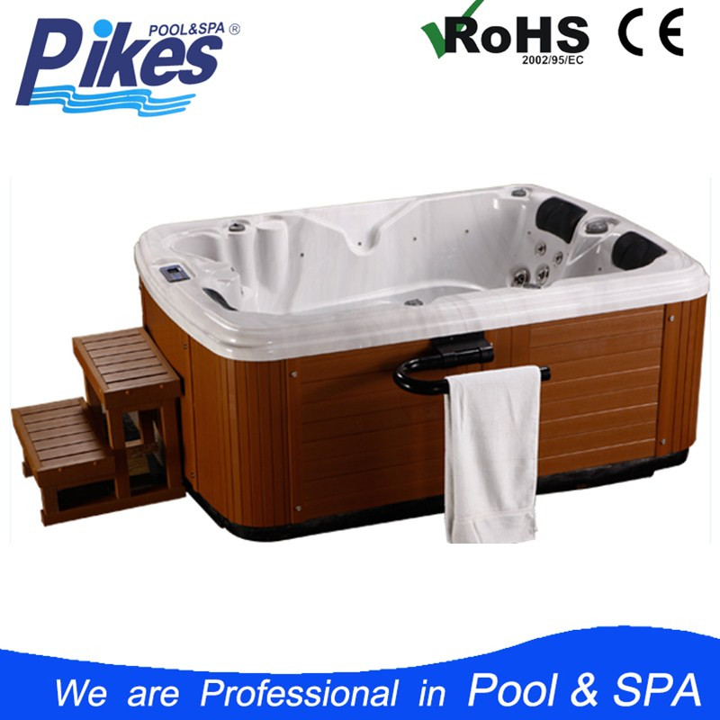 3tub indoor outdoor spa jet nozzle , whirlpool bathtub freestanding Acrylic family massage spa hot tub