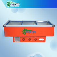 island cooler , fruit and vegetable display freezer