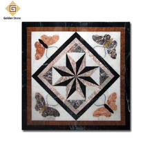 Nice quality polished marble mosaic floor medallion by hand