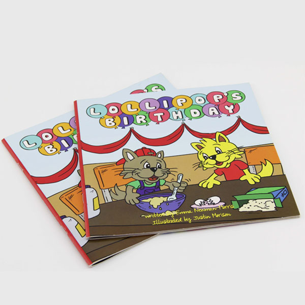 Gift for kids soft cover cartoon story book printing