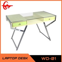 glass computer desk, wooden desktop table in home office WD-01