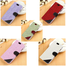 Mix-color Cloth Material Flip Smart Cover Case For Samsung S6