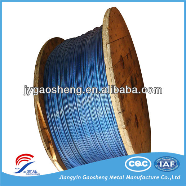 pvc or pe coated steel wire rope