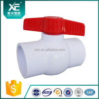 Plastic Compact Ball Valve SCH80 /Irrigation//Solar Water System/PVC Ball Valve Supplier