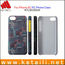Newest sublimation heat ballon full printing for plastic iphone 5C case
