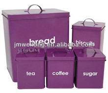 Household Bread Box and Canister Set