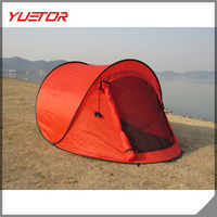 Waterproof 2 Person Single Layer outdoor camping pop up Tent