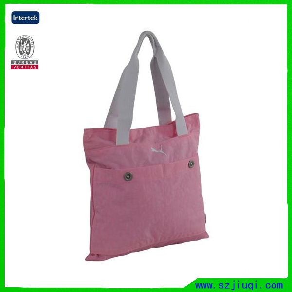 Hot selling pink fancy reusable promotional shopping tote bag