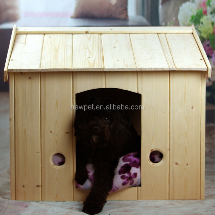 Good quality promotional solid wood pet bed house antique dog wooden house