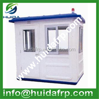 Fiberglass FRP outdoor security mobile Guard house in stock