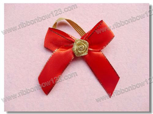 mini christmas elastic gift cord bow
