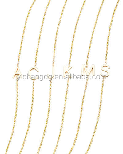 2016 Hot Sale 14k Yellow Gold Letter Bracelet,Stainless Steel Chain Bracelet Jewelry