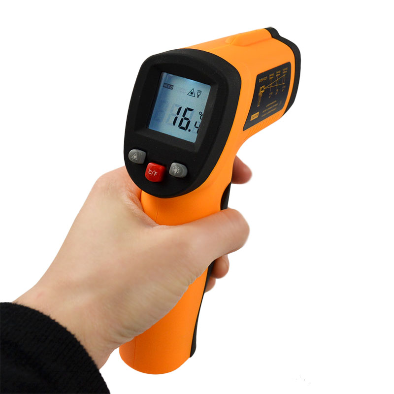 -50~330C (-58~626F) Emissivity 0.95 <strong>12</strong>:1 Non-Contact Digital IR Temperature Gun Thermometer Meters