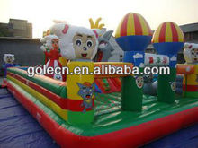 Playground equipment happy sheep inflatable castle