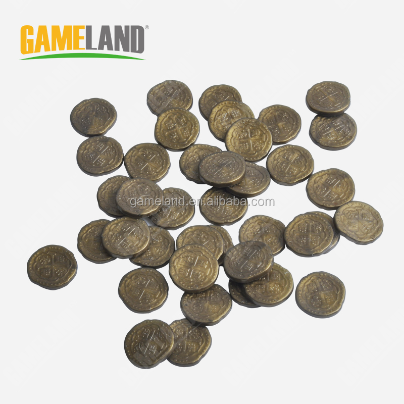 Plastic Custom Board Game Gold Token Coins