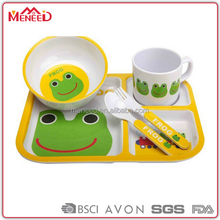 Children 5pcs cute frog design 100% melamine japanese dinner set