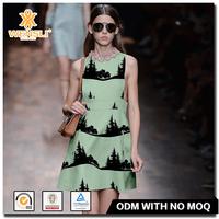 Korean Wensli Types ODM OEM Art Pictures Digital Printing Silk Fabric