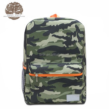 China supplier camouflage patterns teenager backpack school bag for student