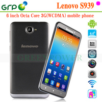 Good Quality S939 Android 4.2 MT6592 Octa Core Built-in 3G 6 inch smartphone lenovo with low price
