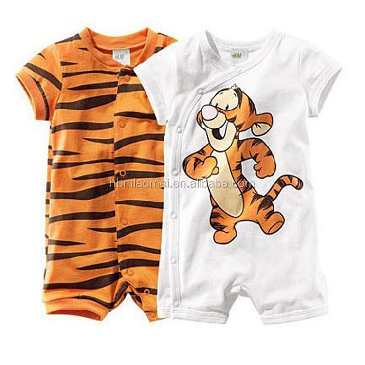 2016 summer design short sleeve cotton unisex baby clothes newborn with factory price