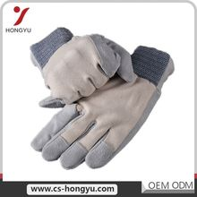 Wholesale Driver Pig skin Long Arm Safety Cow Leather Work Glove