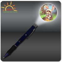 new products 2016 LED gifts custom logo projector pen