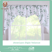 HQJ Textile hot sale american style printed valance curtains