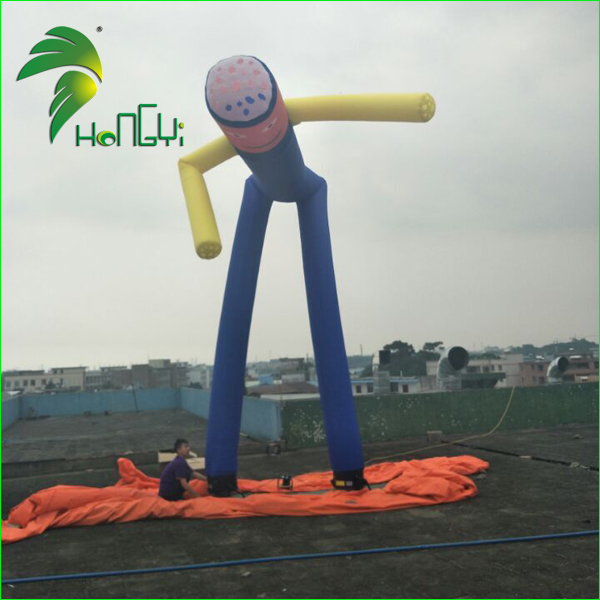 High Quality Giant Two Legs Inflatable Air Dancer , Inflatable Sky Dancer For Advertising