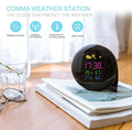 Electronic Indoor Thermometer Hygrometer Household Temperature Humidity Gauge With Tabletop