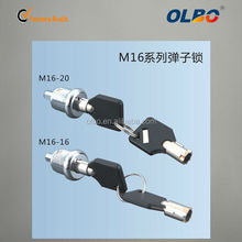 Spring lock tubular cam lock series with master key M16