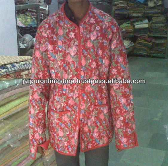 Indian Womens Handmade Cotton Coat / Quilted Jacket