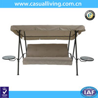 3-Person Adjustable Patio Swing With Canopy