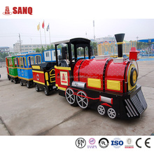 Outdoor playground electric adult rides train set