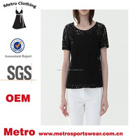 Latest Fancy Design Women's Lace Tops Lace tee shirts