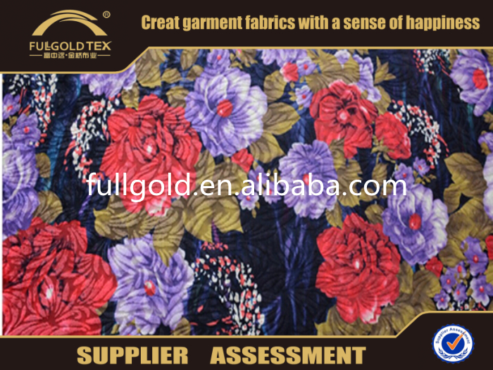 2016 Best Quality Printed 100%Polyester Fabric For Upholstery