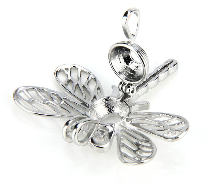 Hollow new dragonfly Pearl bead Cage pendant , make your own necklace