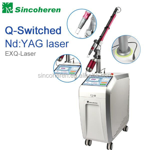 Medical CE /TGA approved Q-Switched Nd:yag laser machine for any color tattoos spots pigmented lesions removal