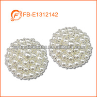 fancy pearl beads handmade clothing buttons